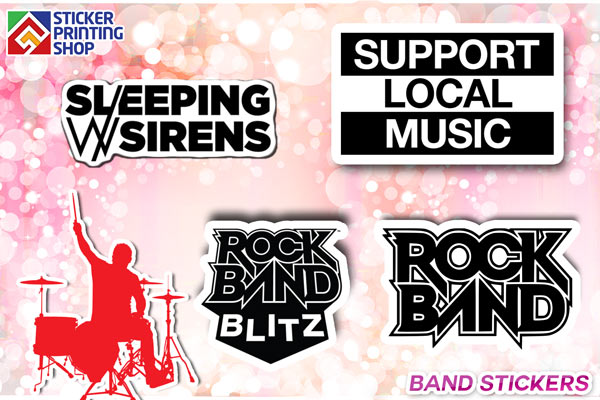 We design band stickers using effective techniques that are economical and make the application of music band stickers easier too