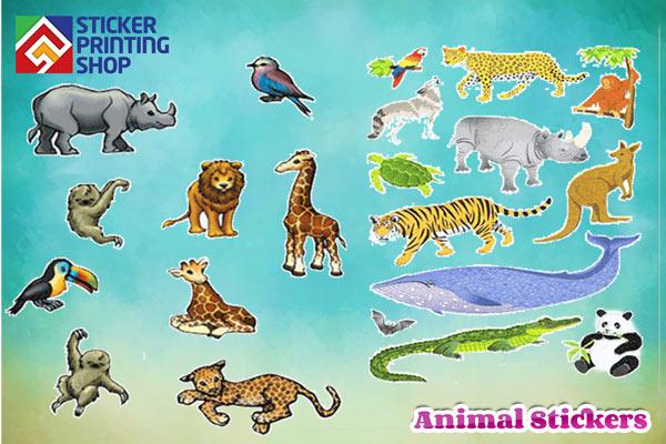 Animal Stickers: Using animal custom Stickers around us