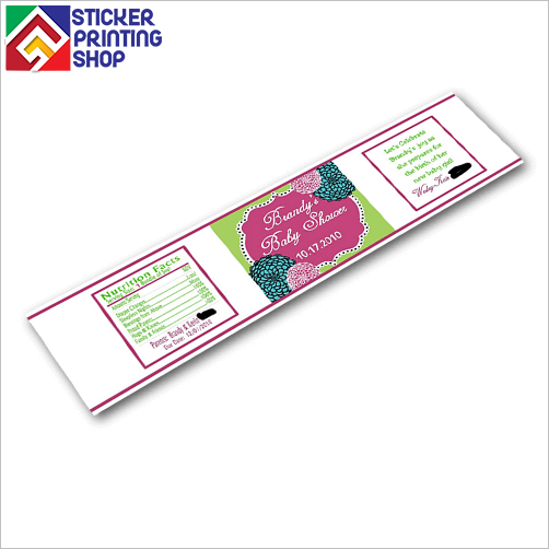Food and drink labels with printed specifications and diet ...
