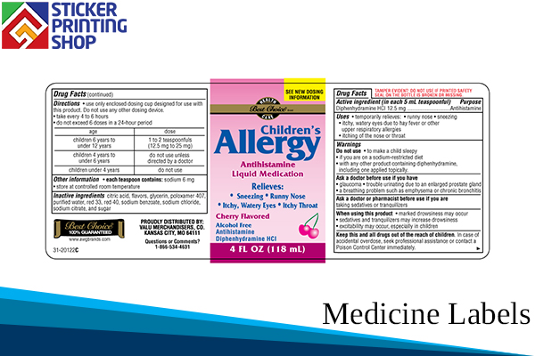 2 Medicine Labels With Neat And Attractive Printing